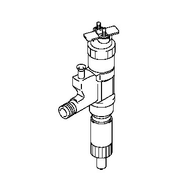 095000-6373 Denso 6HK1 Common Rail Fuel Injector