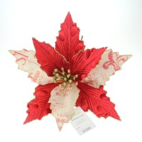 poinsettia made of velvet and burlap