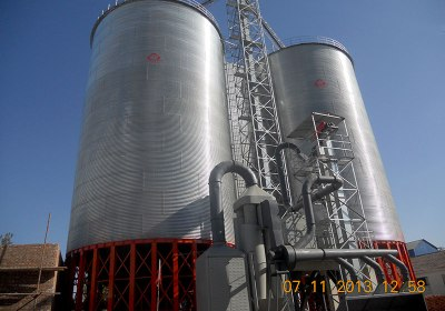 Grain Storage Steel Silo with Cone Bottom
