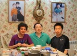Abendessen mit Gastvater und Gastbruder