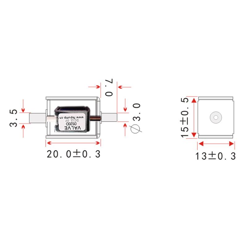 0520D DC 6V 12V 24V Small Mini Electric Solenoid Valve N/C