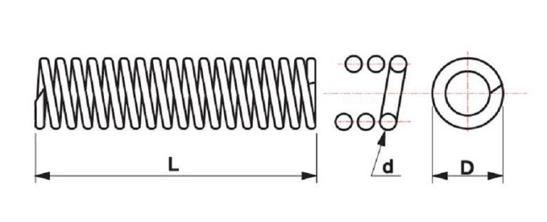 1PCS Spring Steel Pressure Spring Y-type Compression