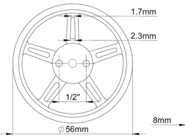 1pcs DOMAN RC 9g 360 degree continuous rotation servo used