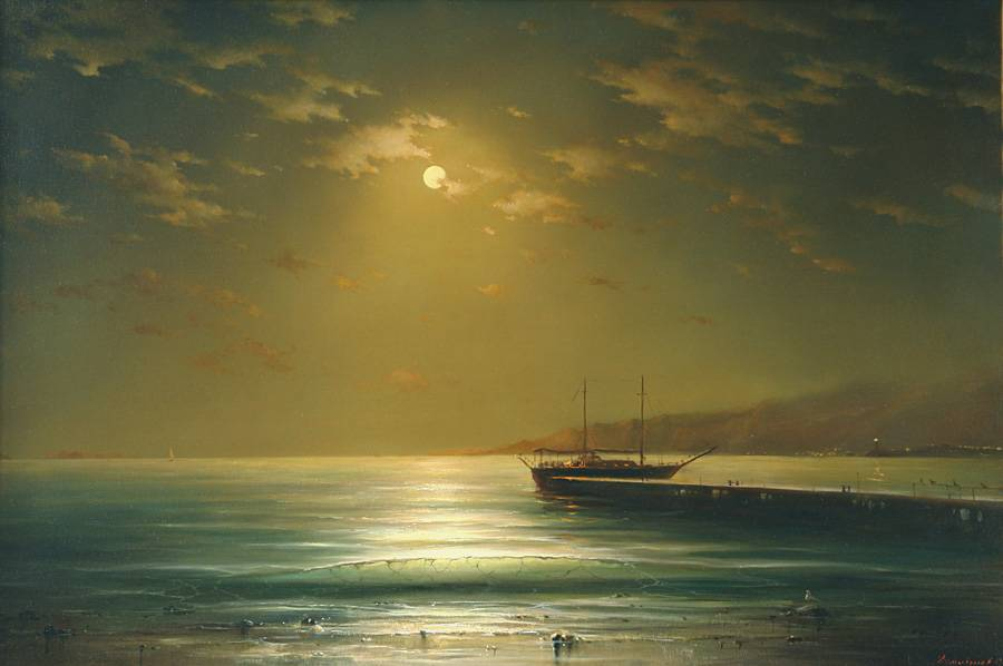 Image result for yellow moon in painting