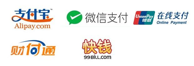 Mainstream China payment gateways