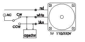 Reversible AC Gearmotors 120 watt 90 mm