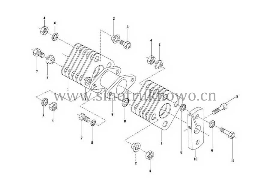 INJECTOR & FUEL PIPE, SINOTRUK HOWO SPARE PARTS CATALOG