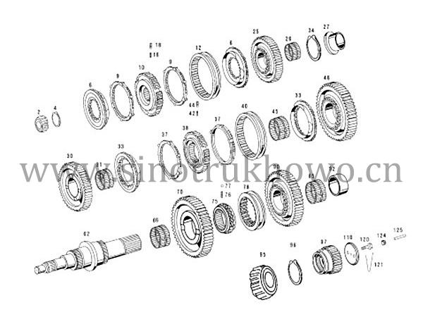 ZF5S-150GP (2159003019) Catalog, Second shaft assey