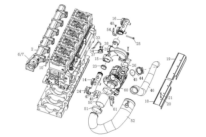 Intake & Exhaust Manifold, Sinotruk Catalog-Parts