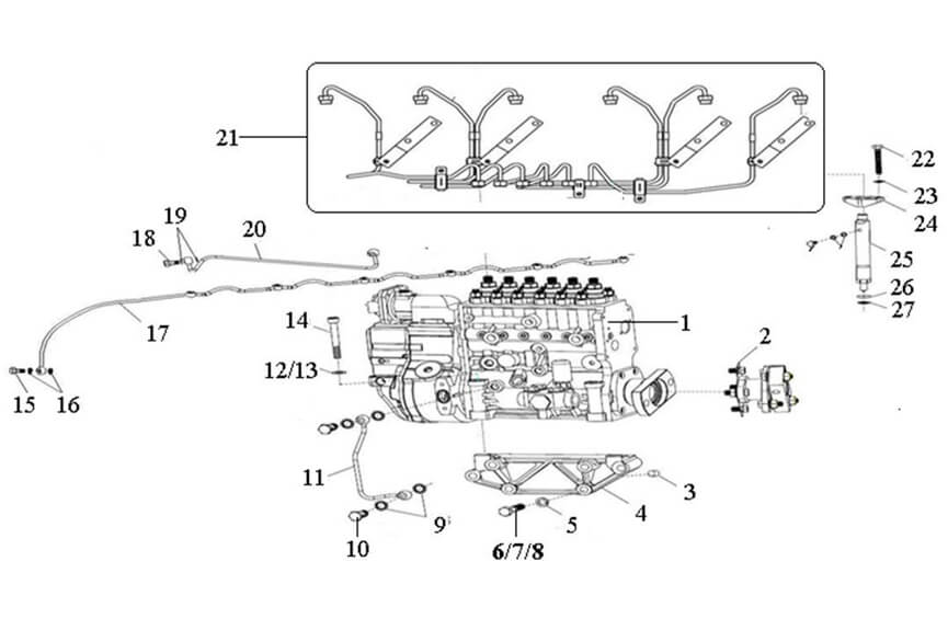 Fuel Supply System, Sinotruk Spare Parts Catalog-Parts