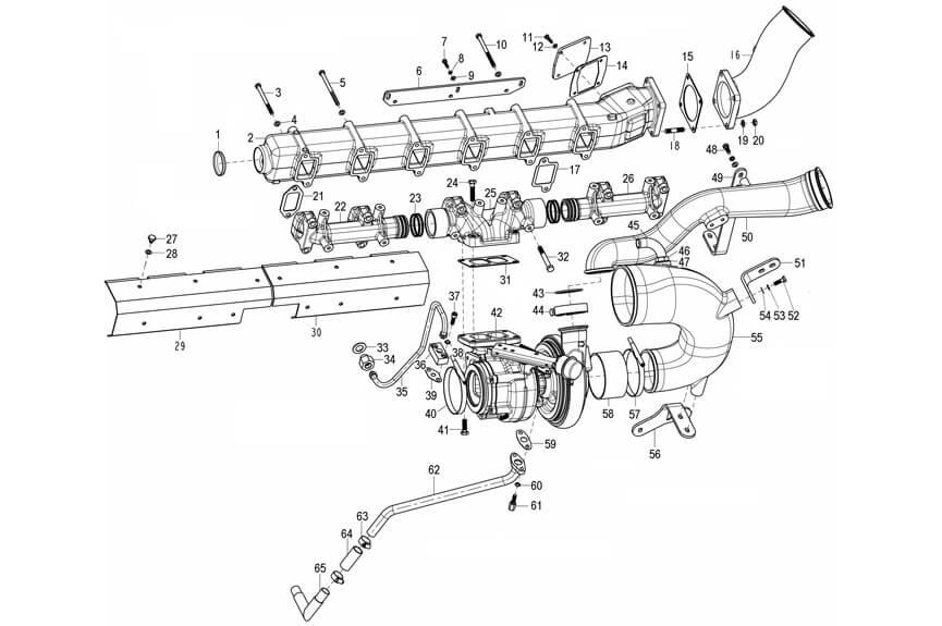Intake Manifold and Exhaust Manifold, Howo Parts Catalogue