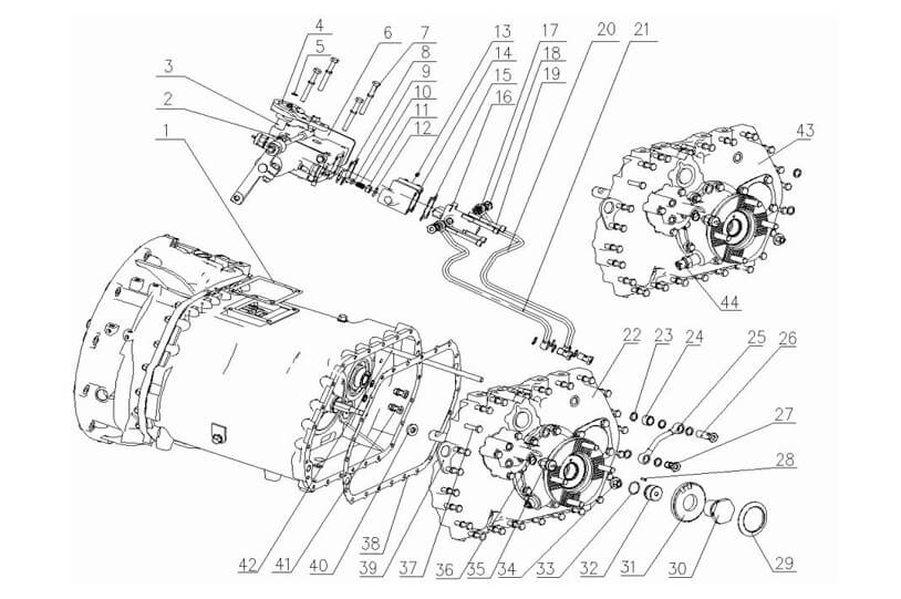Gearbox Part 03, Sinotruk Spare Parts Catalogue-Parts
