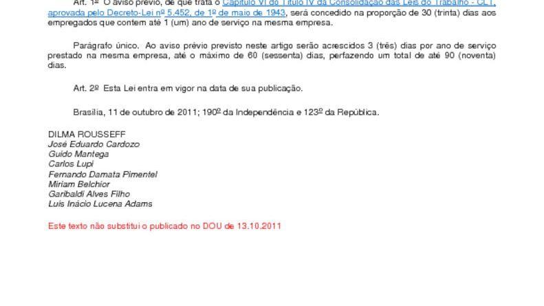 thumbnail of Lei 12506 Aviso Previo