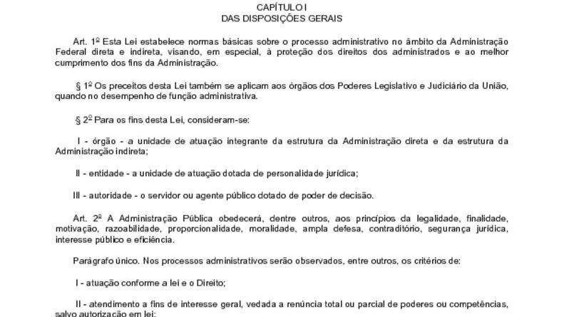 thumbnail of Lei 9784 de 29 01 1999 Processo Administrativo