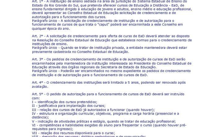 thumbnail of RESOLUCAO 262 ENSINO A DISTANCIA EAD