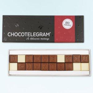 Chocolade telegram van YourSurprisel.nl