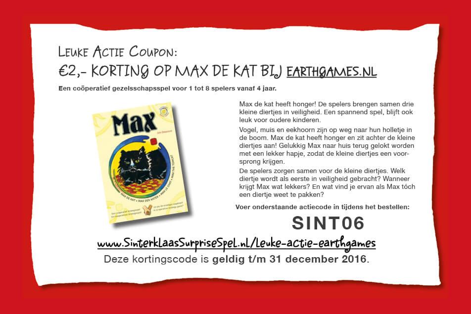Leuke Actie: €2,- korting op het spel Max de Kat!