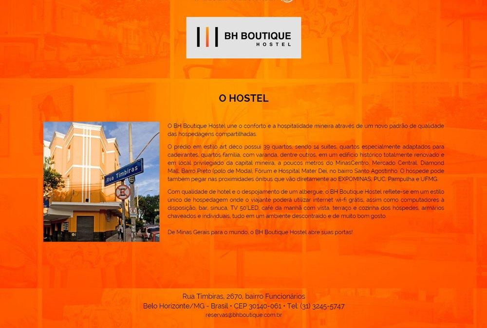 BH Boutique Hostel, novo projeto em Asp.Net