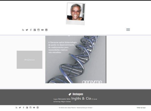 Novo site de Júlio César Pereira