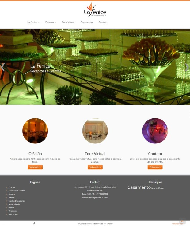 Novo site do La Fenice Recepções