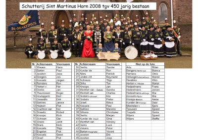 Schutterij Sint Martinus Horn 2008 450 jarig bestaan wie is wie_400