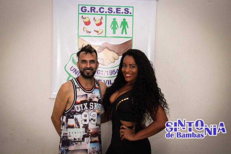Vila Maria recebe a visita de sua musa na Fábrica do Samba