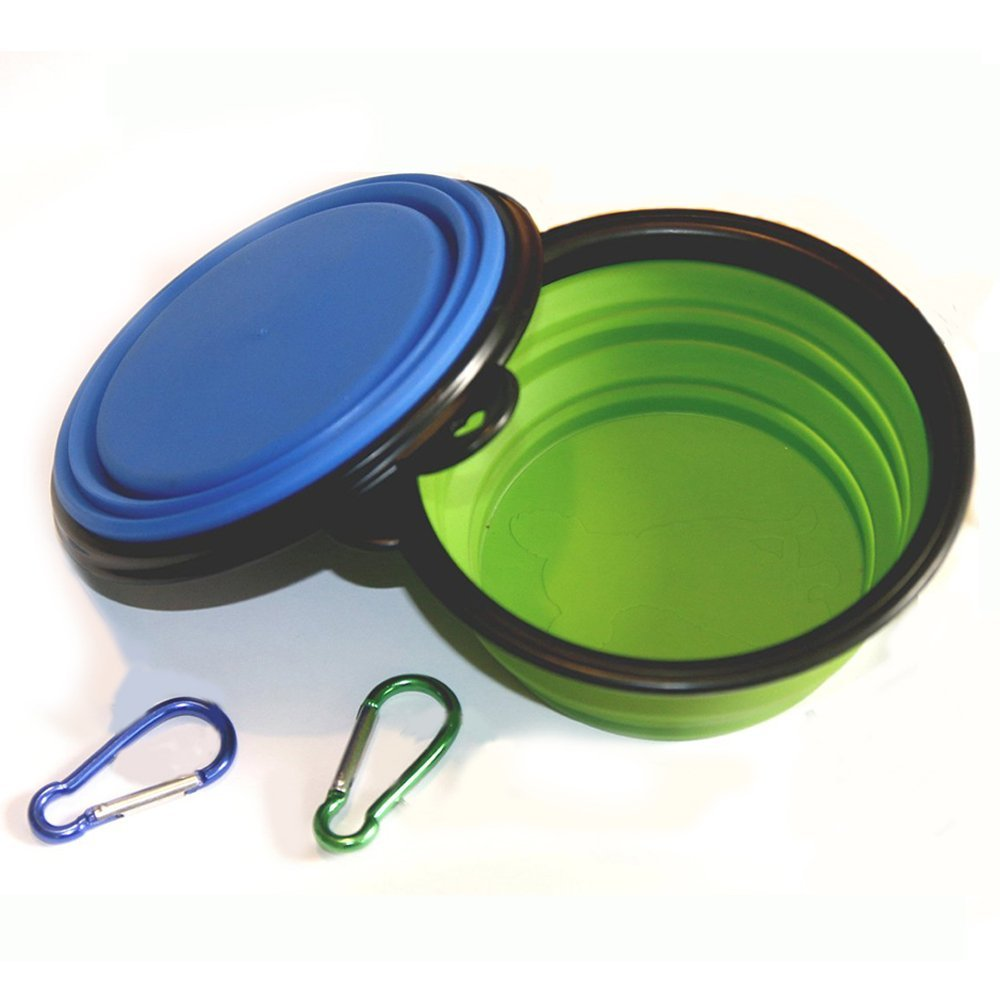 Comsun Collapsible Travel Food Water Bowl