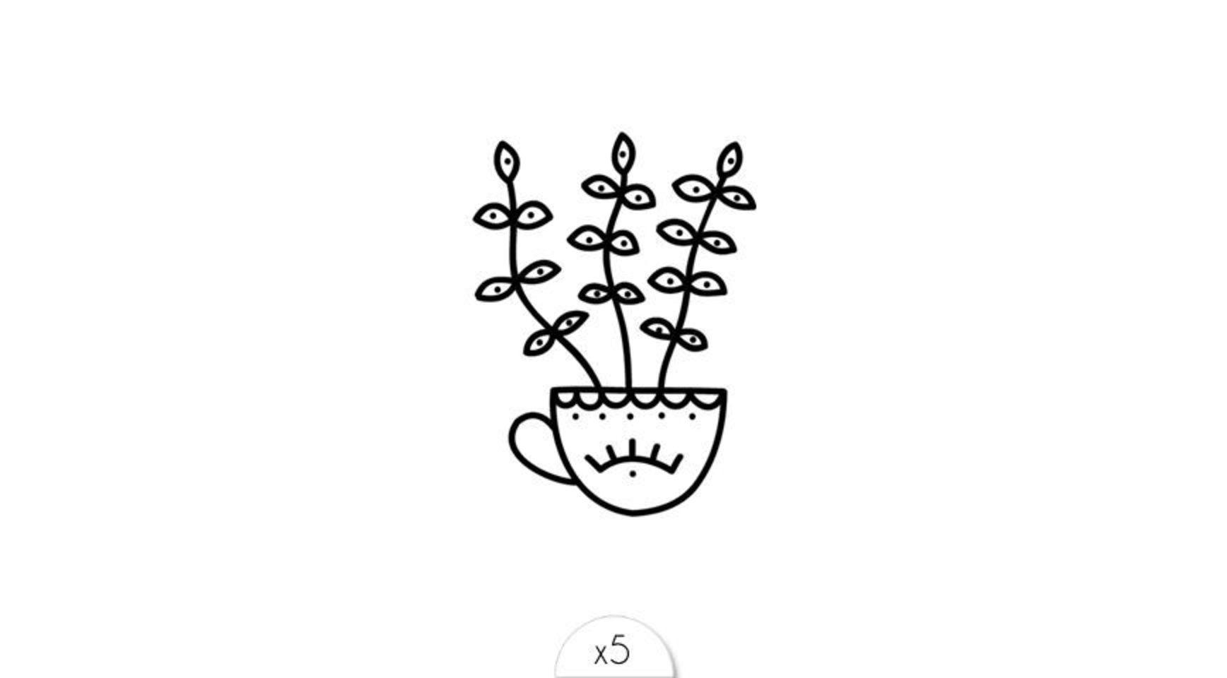 Cute plant ephemeral tattoo by Sioou