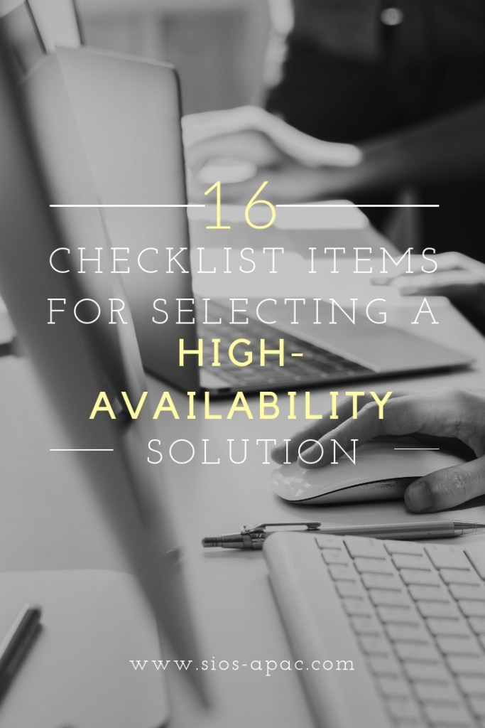 Selecting a High-Availability Solution