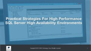 SQL Server High Availability Solutions