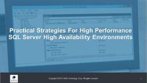 SQL Server高可用性解決方案