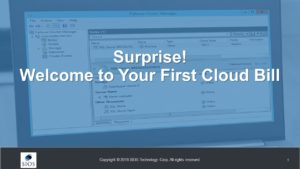 Webinar: Surprise! Welcome to your First Cloud Bill