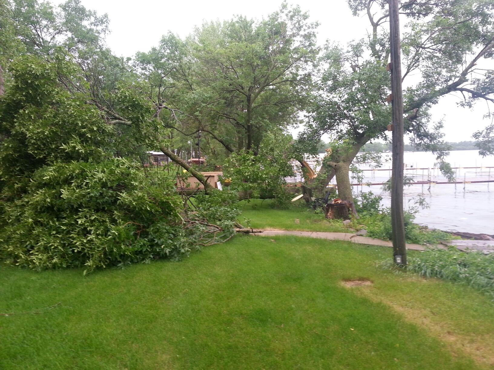 storm damage in okoboji 3