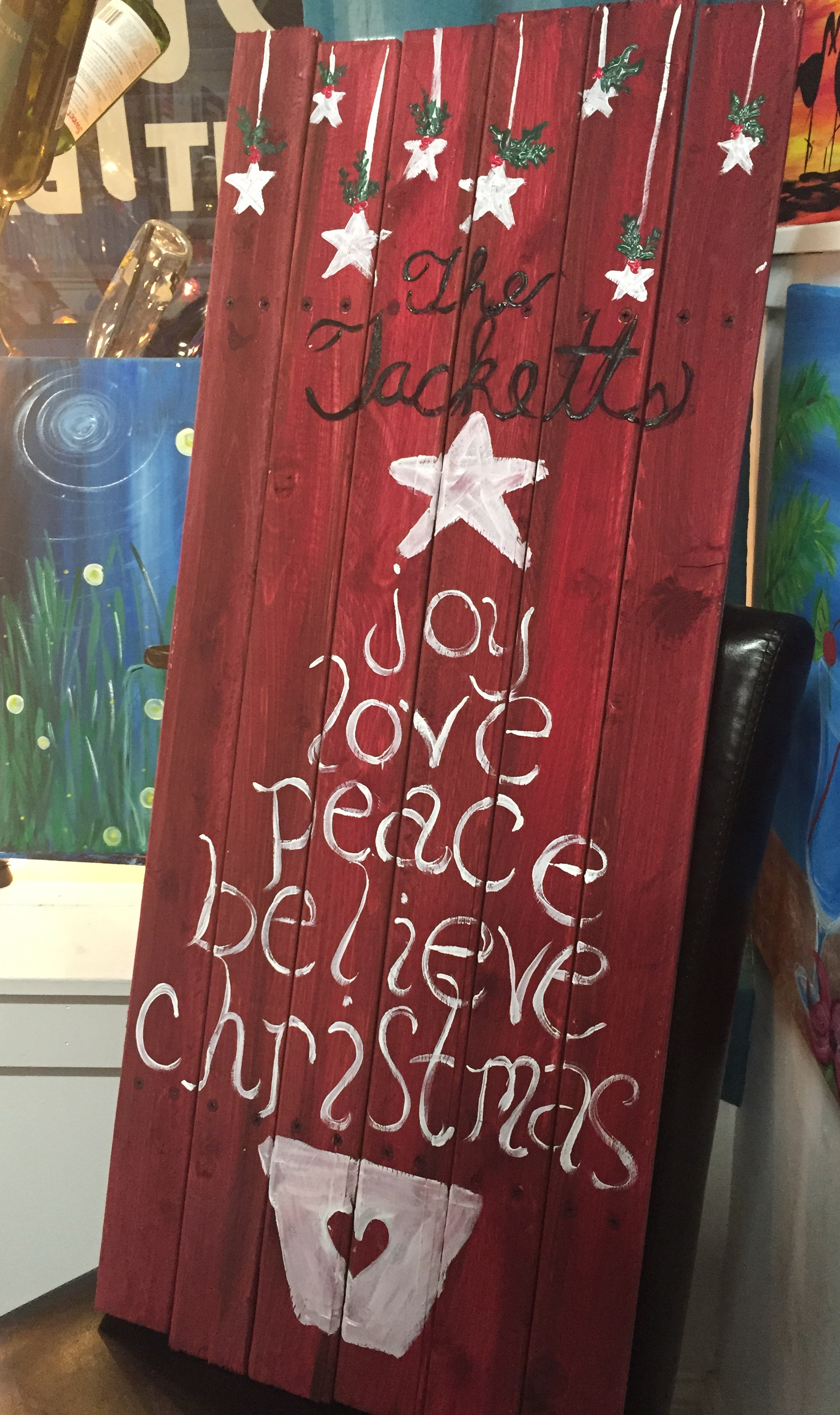 Christmas 3ft wood canvas