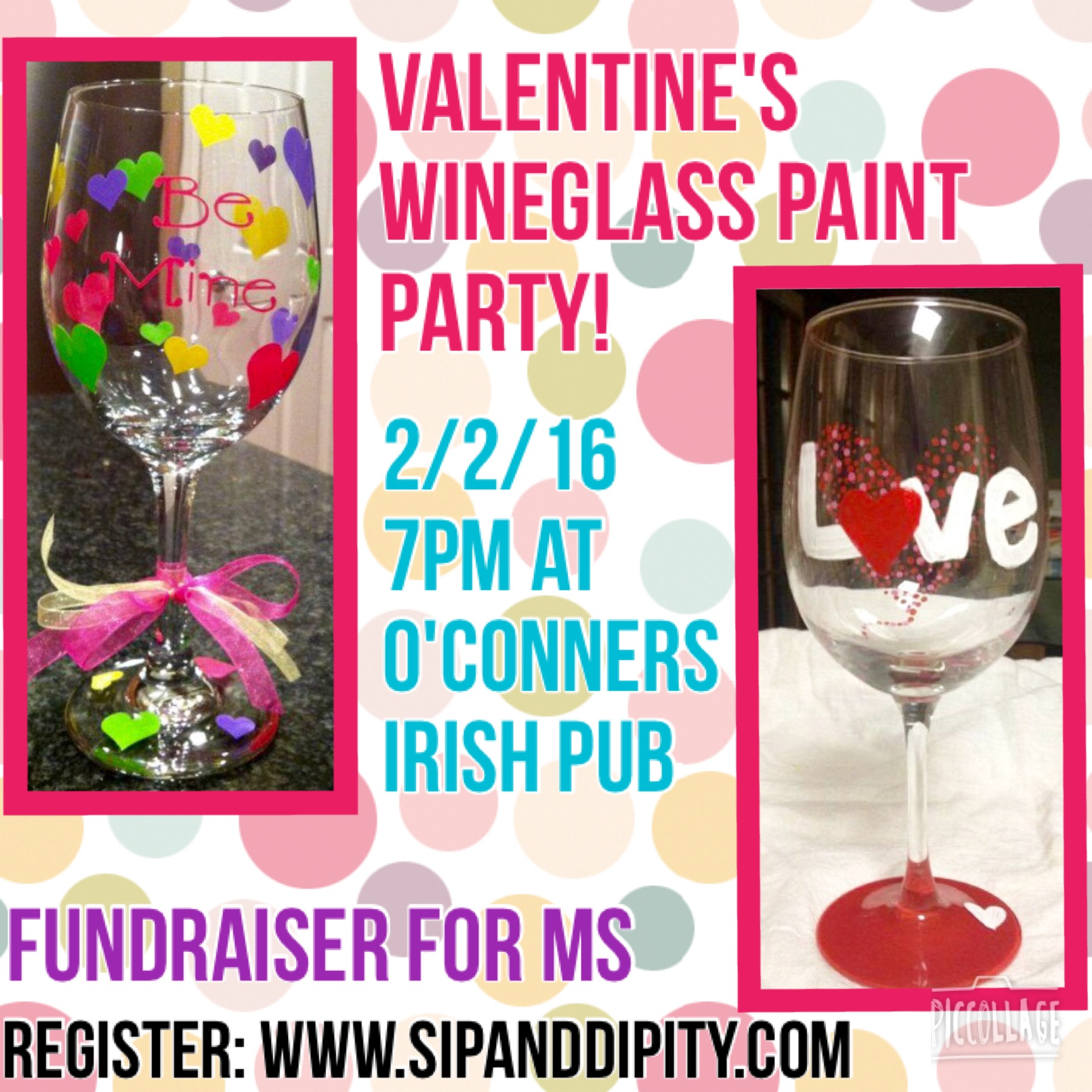 Valentine's Wineglass Paint Party!