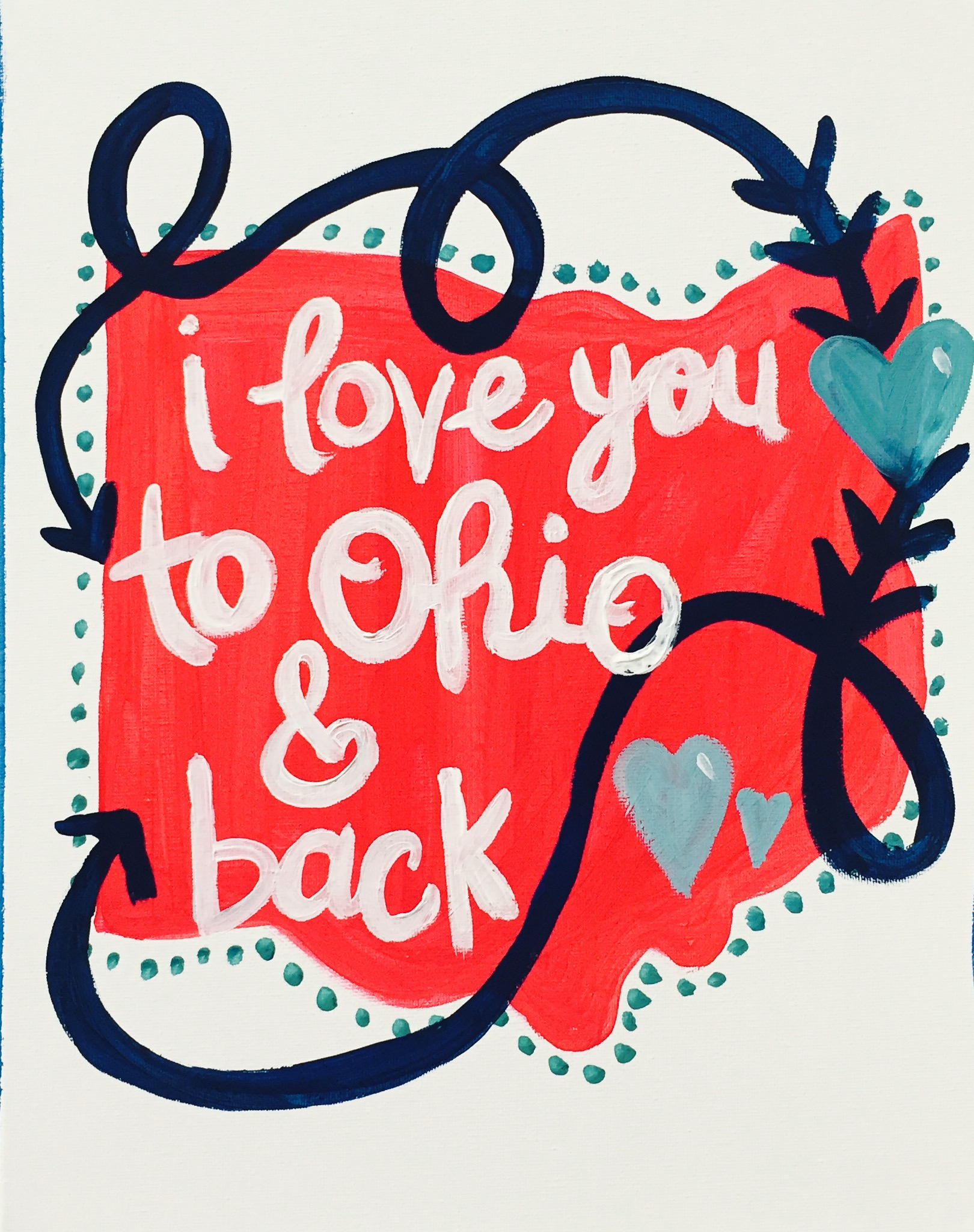 Love you to Ohio & back