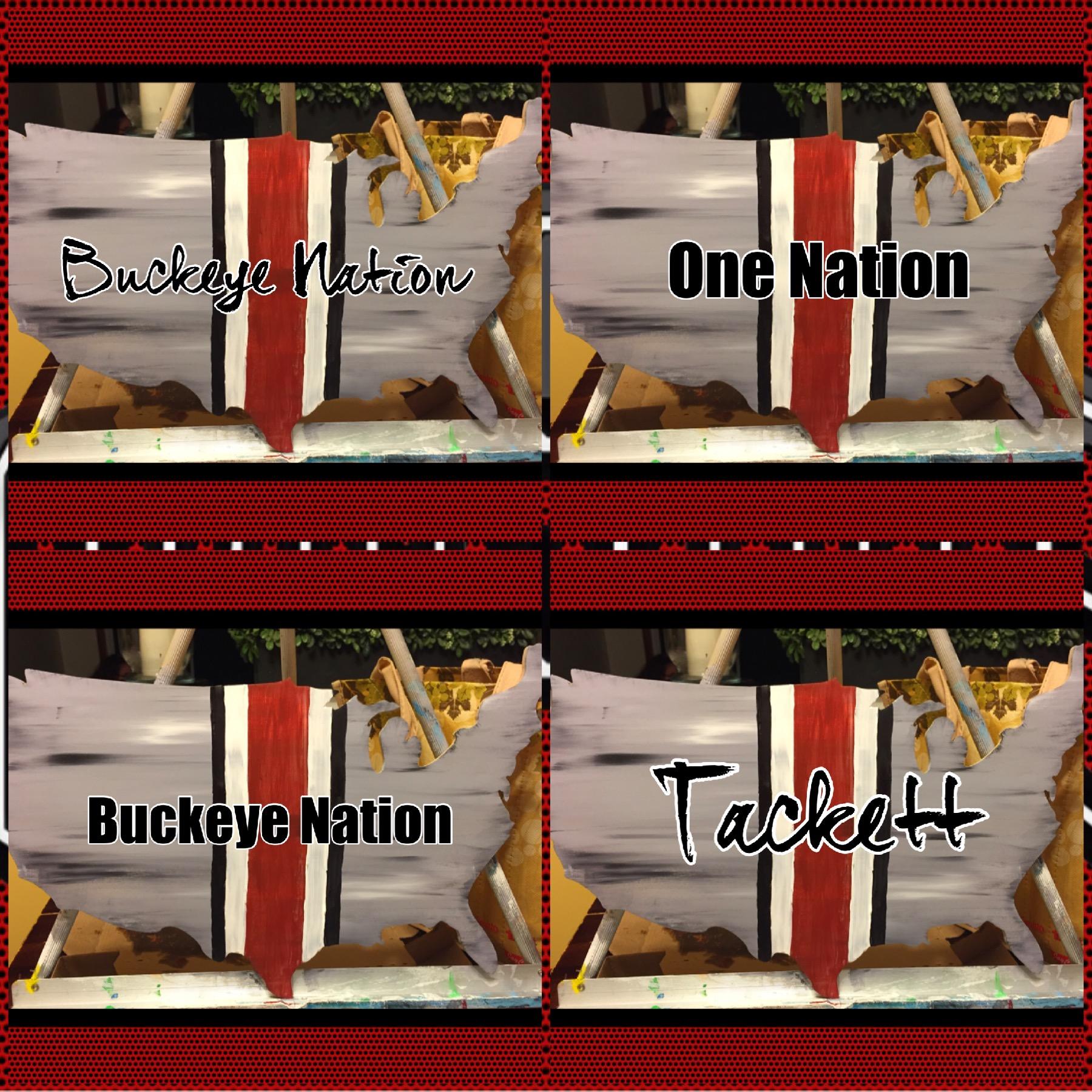 Buckeye Nation wood door hanger