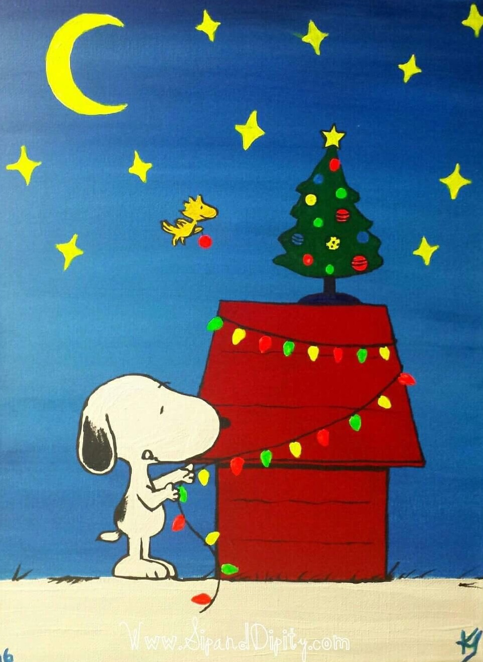Holiday Glow Snoopy!!