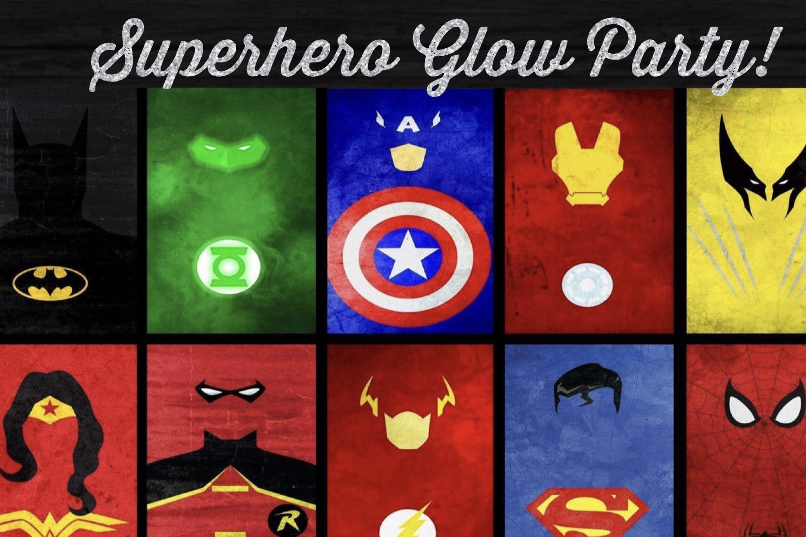 Superhero Glow Party!!
