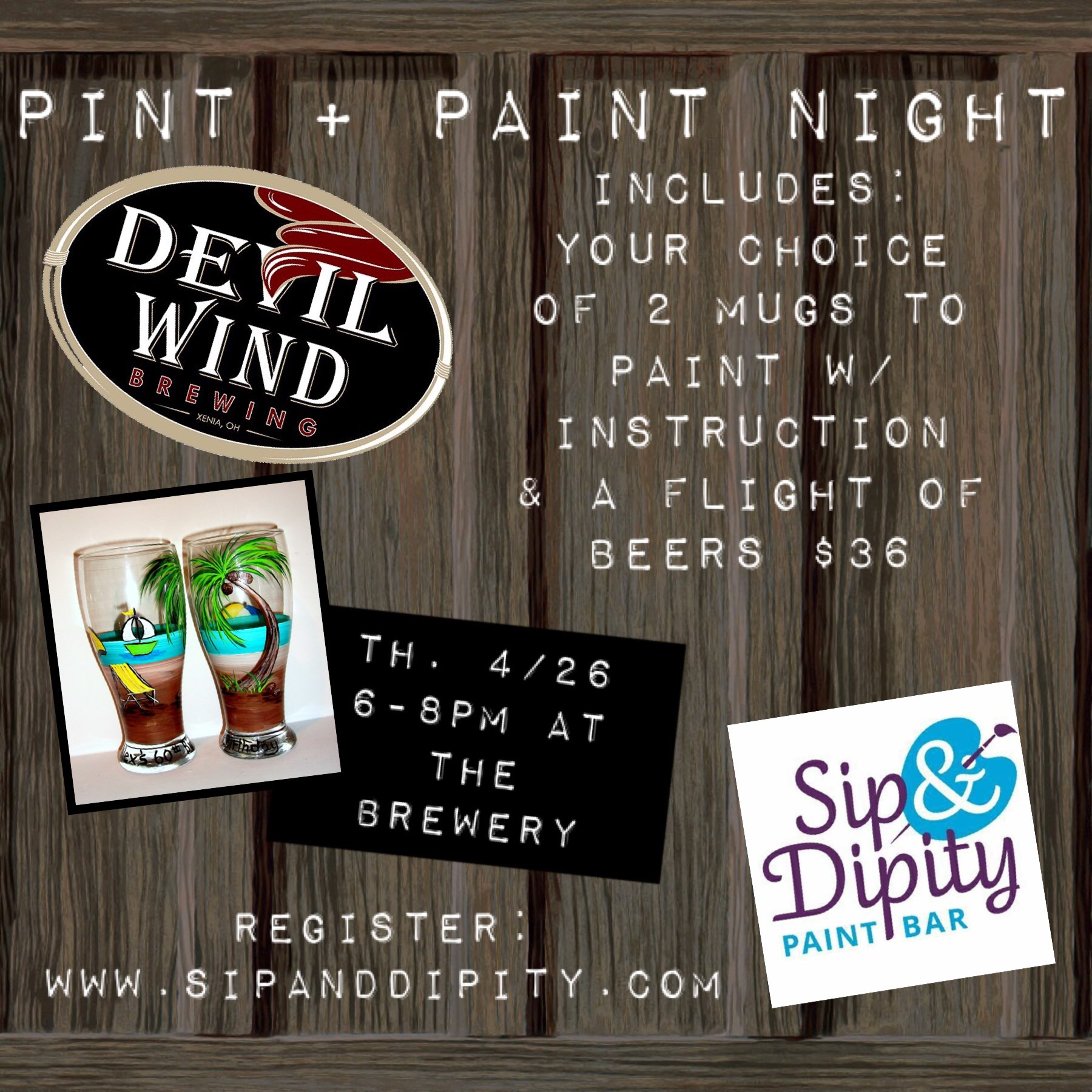 Pint + Paint at Devil Wind Brewery