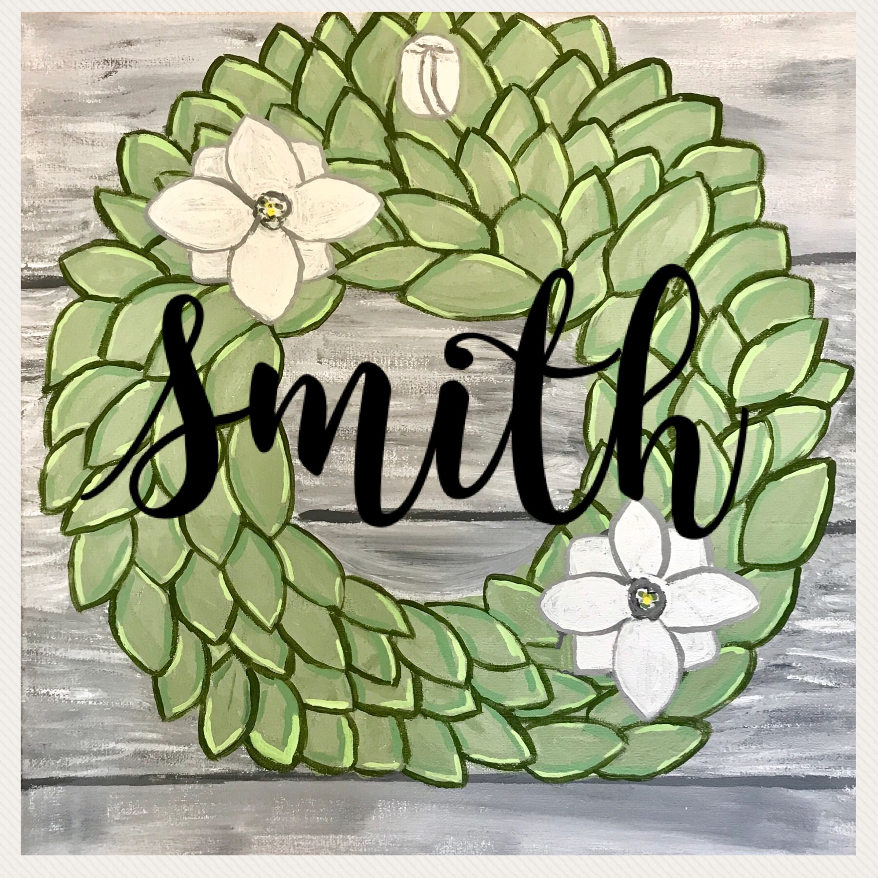Wreath canvas Special only $30