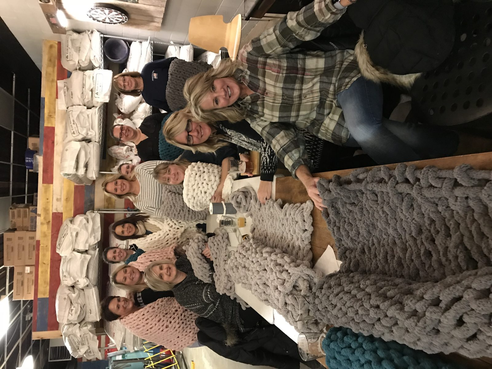 Chunky Blanket Workshop at the Devil Wind Brewery