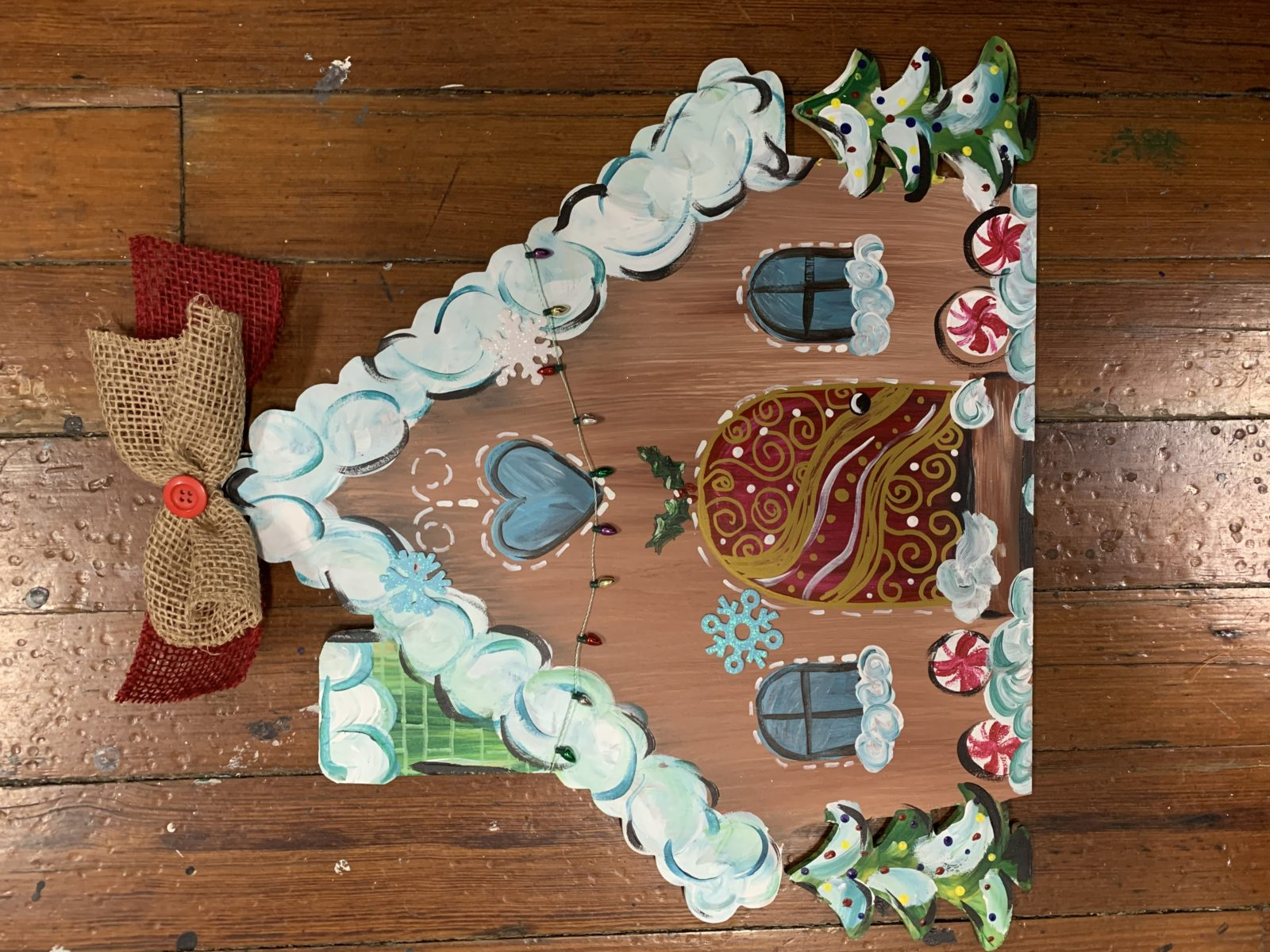 Buy your blank gingerbread house here to paint at home
