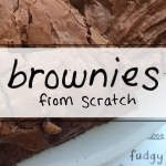 Recipe for chewy fudge brownies from scratch via sipbitego.com
