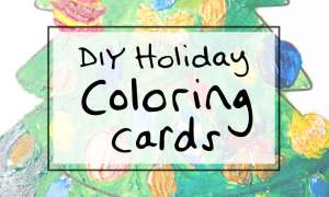 Holiday DIY idea: Christmas Coloring Cards via sipbitego.com #holidaycrafts #tistheseason