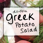 Easy Red potato salad with dill, feta, and NO mayo! Via sipbitego.com