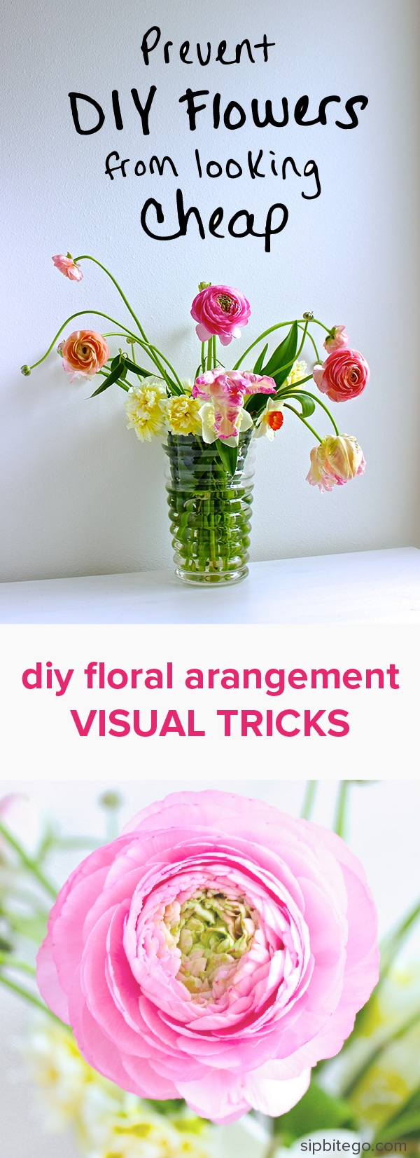 Learn how to prevent a simple floral arrangement from looking cheap ...