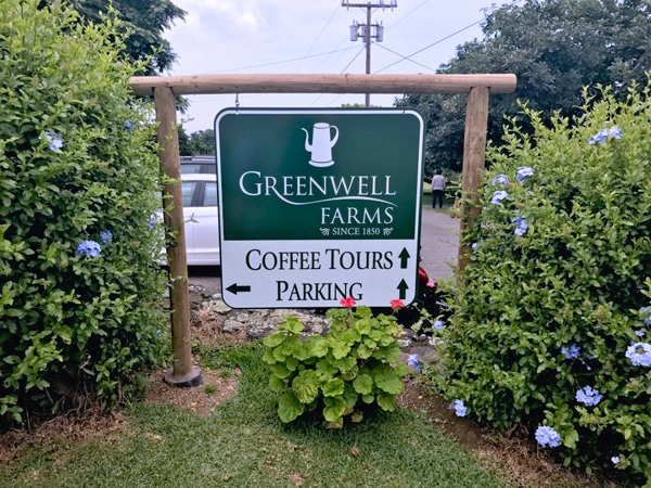 Greenwell Kona Coffee Tour times and location