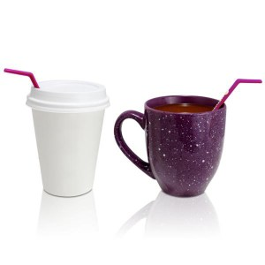 Plum Hot Coffee Straw