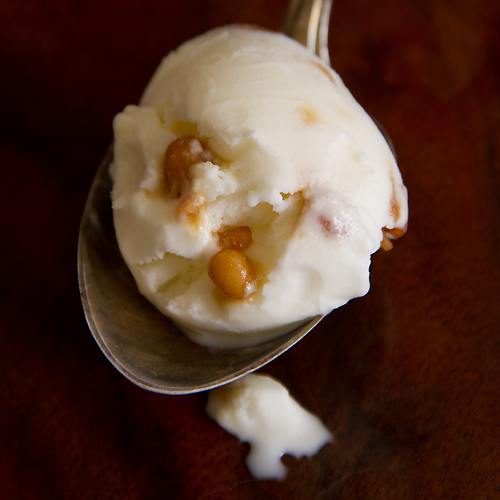 rosemary ice cream with pine nuts